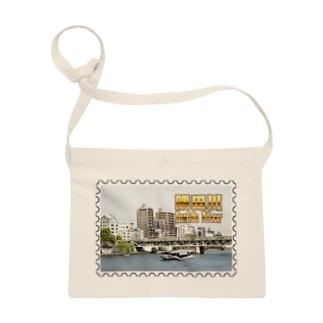 東京都:隅田川と水上バス★白地の製品だけご利用ください!! Tokyo: Sumida river & water bus★Recommend for white base product only !! Sacoches