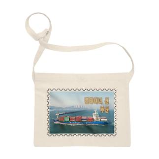 大韓民国:コンテナ船★白地の製品だけご利用ください!! Korea: Container ship/ Busan★Recommend for white base products only !! Sacoches