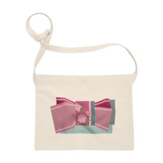 帯柄 水色×ピンク Sacoches
