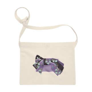 帯柄 黒×紫 Sacoches