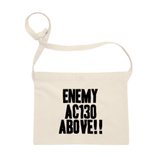 EAA!! Official Store - EAA!! 公式ストアのEnemy AC130 Above!!(white) Sacoches
