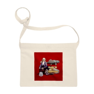 ドール写真:ブロンドの妖狐と甲冑魚 Doll picture: Blonde monsterfox & Dunkleosteus Sacoches