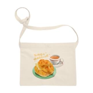 香港フード、パイナップルパン菠蘿油とミルクティー奶茶 Sacoches