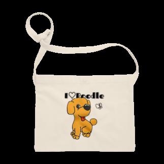 Hi-BoのI Love Poodle Sacoches