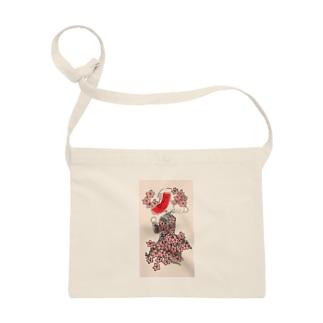 桜に赤短 Sacoches