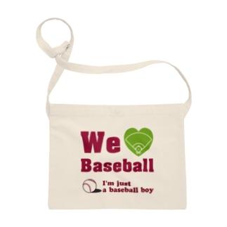 We love Baseball(レッド) Sacoches