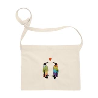 虹色ペンギンLOVE Sacoches