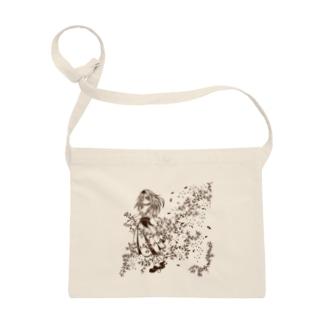 花と刺繍の女の子 Sacoches