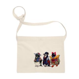 立てば芍薬、座れば牡丹、歩く姿は百合の花-Pygoscelis Kimono Penguins- Sacoche