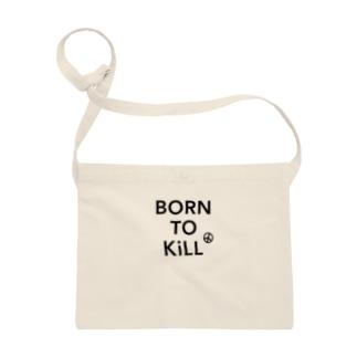 BORN TO KiLL(生来必殺)とピースマーク Sacoches