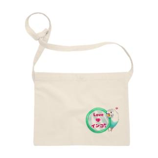 Lily bird(о´∀`о)の鏡大好きピーコちゃん ロゴ入り② Sacoches