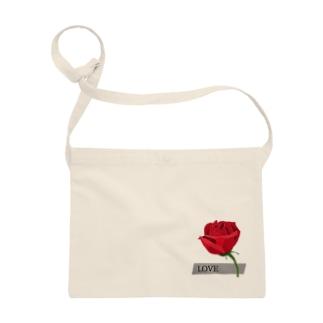 Rose-赤いバラ Sacoches