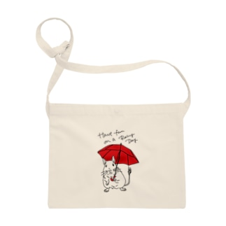 Have fun on a Rainy day (Red Umbrella) Sacoches