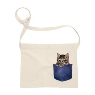 デニムポケットからひょっこり子猫ちゃん Sacoches