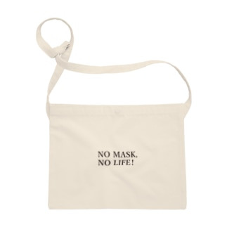 NO MASK, NO LIFE.  マスク入れ専用のサコッシュ Sacoches