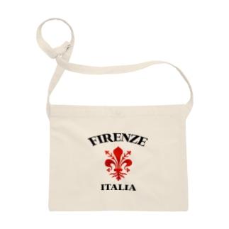 FIRENZE フィレンツェ イタリア フィレンツェの紋章 百合の紋章 Il giglio di Firenze FIRENZE フィレンツェ イタリア フローレンス イタリア カスレ加工 Sacoches