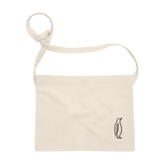 ひとふでがきペンギン[POSCAデザイン] Sacoches