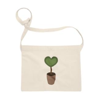 大人のためのねこのハート♥グリーンの植木鉢 Sacoches