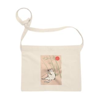日本画風の猫 Sacoches