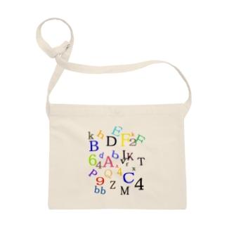 アルファベットと数字の洪水3 Sacoches