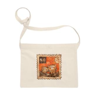 仲良しフクロウの魔法の切手 Sacoches