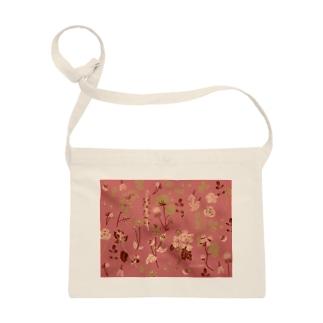野の草花(ピンク) Sacoche