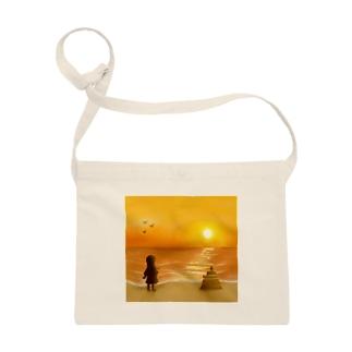 海に沈む夕陽【風景】 Sacoches