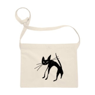 black tabby cat 黒 トラ猫 Sacoches