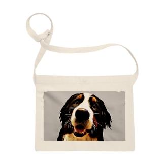 バーニーズマウンテンドッグ/Bernese Mountain Dog/グレイ/Gray/004 Sacoches