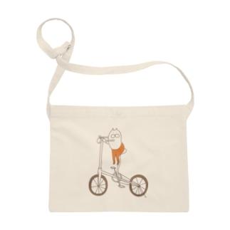 ねこタイツと自転車 サコッシュ