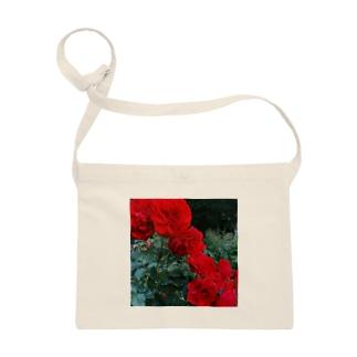 薔薇のお花 深紅 Sacoches