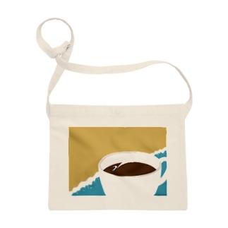 海とコーヒー サコッシュ