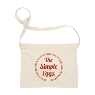 The Simple Eggs. アカイロゴ Sacoches