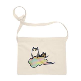 五色の雲と二匹の猫 Sacoche