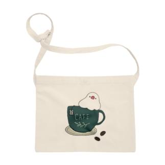 コーヒーカップ文鳥☕  (文鳥の日 2021記念) Sacoche