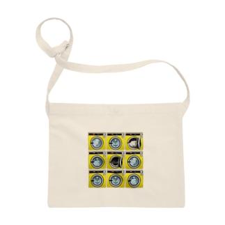 コインランドリー Coin laundry【3×3】 サコッシュ