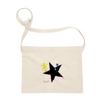 BIG STAR(星柄)ペイント サコッシュ