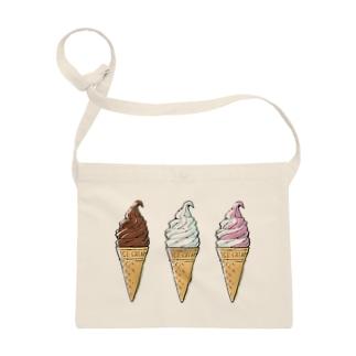 溝呂木一美のお店のソフトクリーム Sacoches
