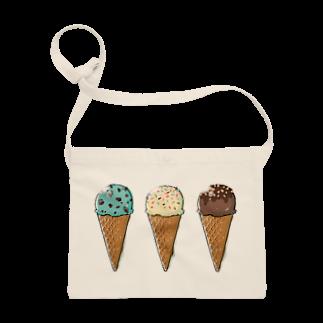 溝呂木一美のお店のアイスクリーム Sacoches