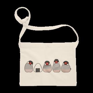 文鳥堂の桜文鳥とおにぎり サコッシュ