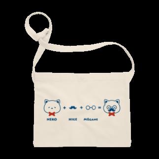 チョッちゃんのネコ+ヒゲ+メガネ サコッシュ
