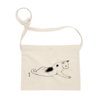 横たわる猫の布かばん Sacoches