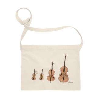 ヴァイオリンとビオラとチェロとコントラバスうさぎ サコッシュ
