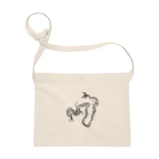 JUNSEN(純仙)貝で描いた龍 サコッシュ