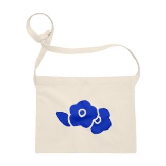 青い花 サコッシュ