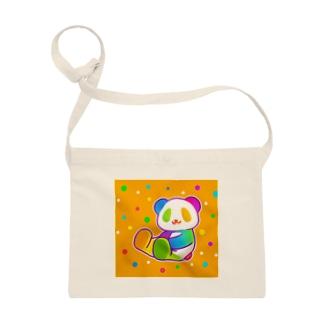 【虹色HAPPYレインボー】「にじパンダ」(オレンジ) サコッシュ