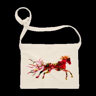 helocdesignのRed Horse サコッシュ