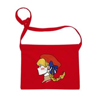 赤いベレー帽 Sacoches