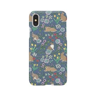 うさぎさんと早春の花 Smartphone cases