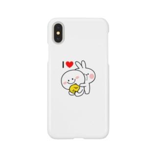 Spoiled Rabbit - I Love / あまえんぼうさちゃん - I ♥ スマートフォンケース